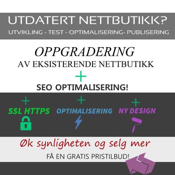 Nettbutikk - Oppgradering