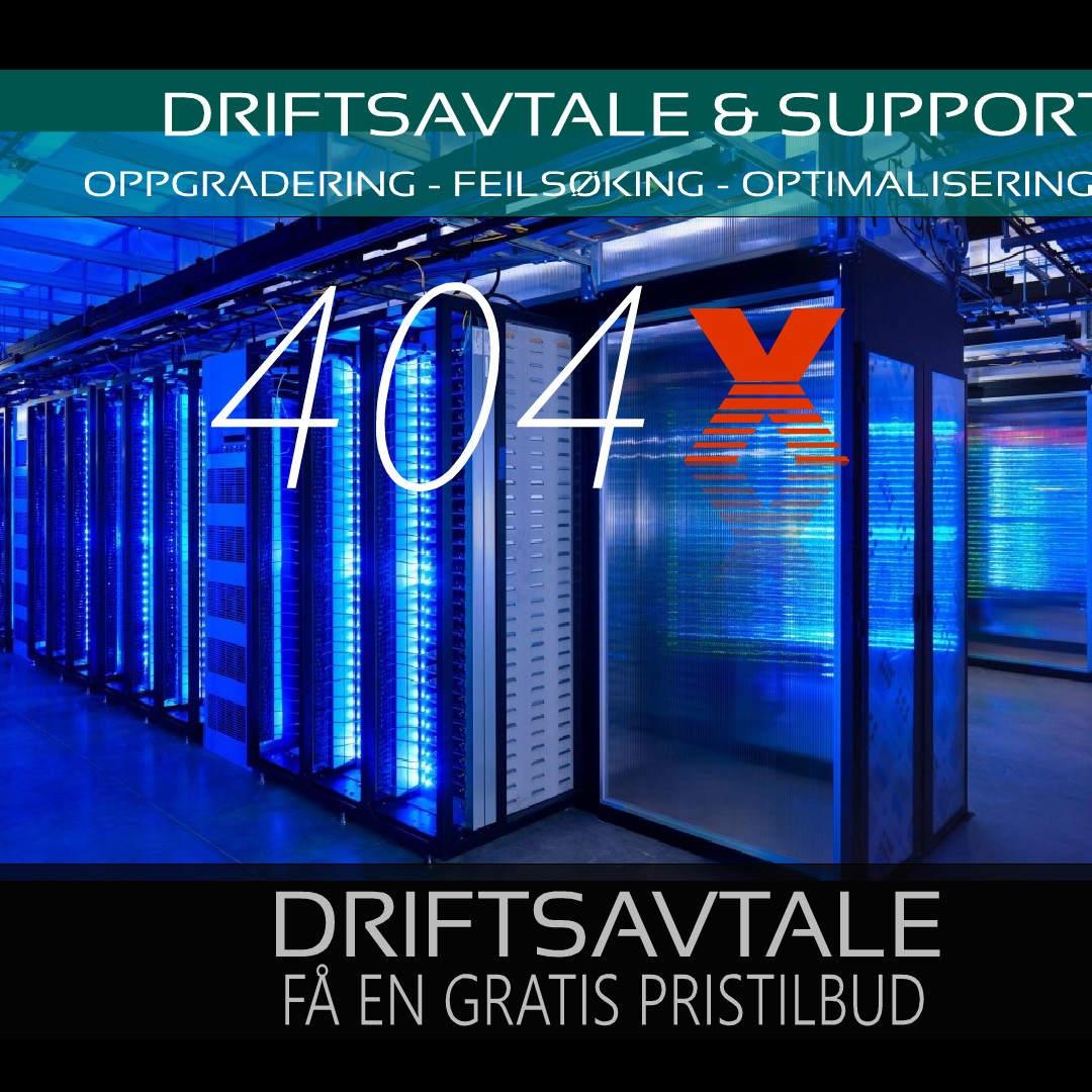 Driftsavtale support – webside – nettbutikk – IKT