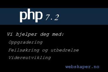 Oppgradering av PHP til nyere PHP 7.1 7.2